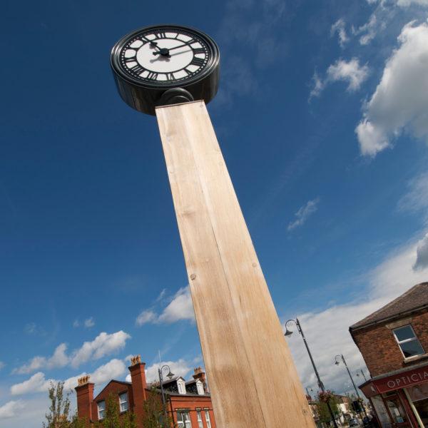 Burscough bridge clock in hardwood