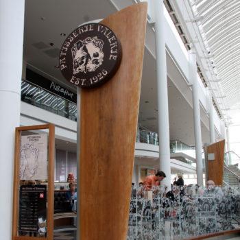 hardwood totem retail sign