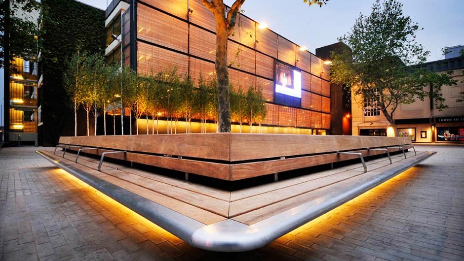 Urban Furniture Design wharf green, street furniture, landscape architecture, hardwood