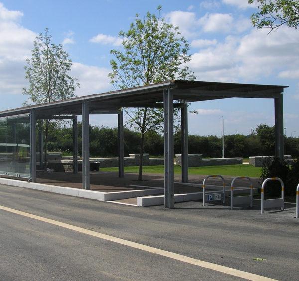 bristol science park bespoke bus shelter