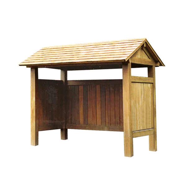 hardwood bus shelter