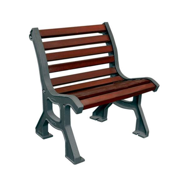 Roda hardwood and metal chair urban street furniture